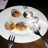 poffertjes at the Ossington (mini pancakes) in Toronto, Ontario, Canada