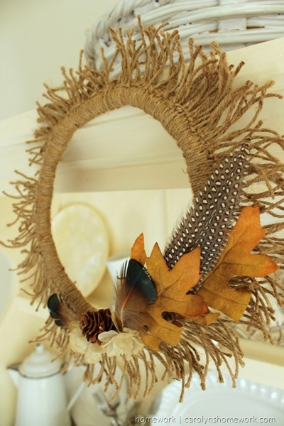 Twine Sunburst Wreath | homework