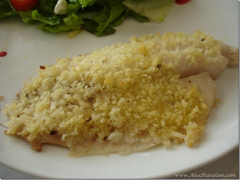 Panko Crusted Tilapia with garden salad5