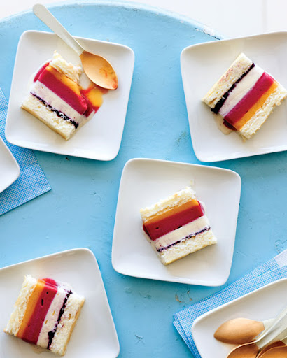 Striped Ice Cream Cake.