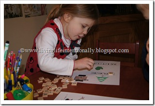 Building words with Scrabble tiles