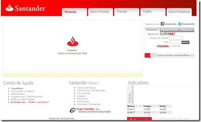 santander serfin sitio web promociones