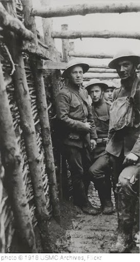 'World War I Marines in a Trench, circa 1918' photo (c) 1918, USMC Archives - license: http://creativecommons.org/licenses/by/2.0/