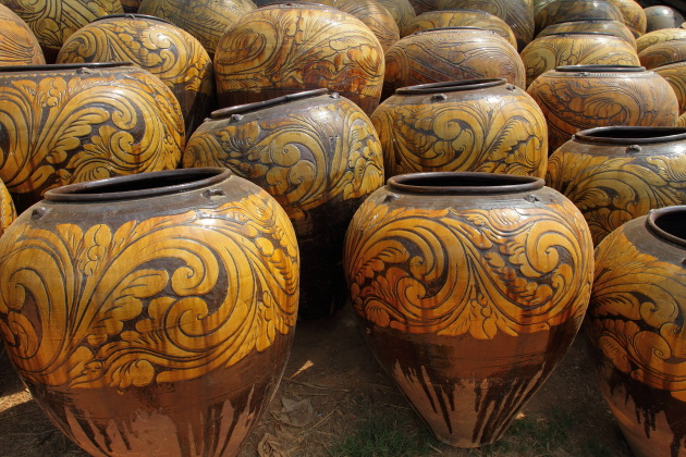 Pots from the Pottery Town of Twante, Burma