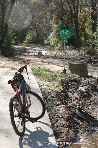 End of the current Forsyth Big Creek Greenway at McFarland Parkway