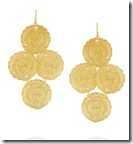 Kenneth Jay Lane Embossed Gold Plated Earrings