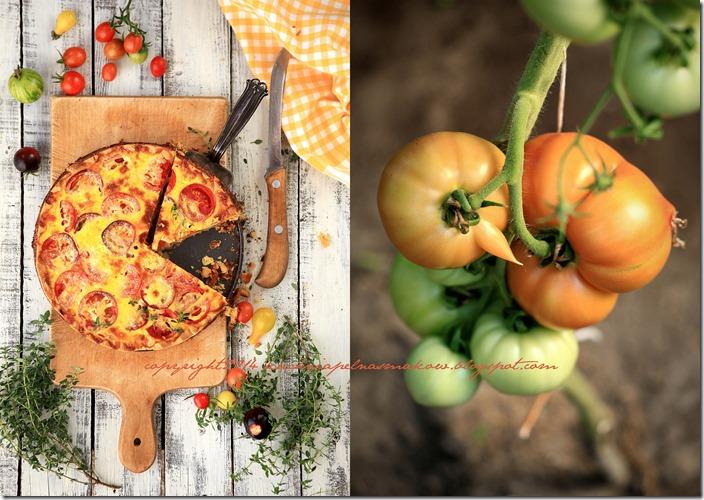 Pomidory mojej mamy i tarta z pomidorami  w wersji klasycznej i bezglutenowej6