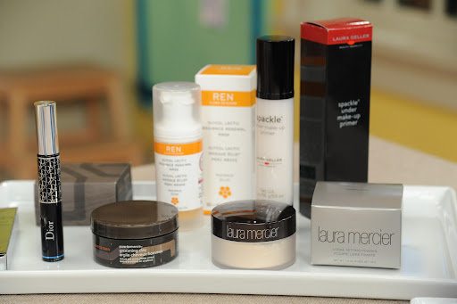 To celebrate our first Big Day Beauty Awards, we gave away some of the top-rated products by brides including: Dior Diorshow Waterproof Mascara (www.dior.com), Laura Mercier Loose Setting Powder (www.lauramercier.com), Laura Geller Spackle Under Make-Up Primer (www.laurageller.com), Ren Glycol Lactic Radiance Renewal Mask (www.renskincare.com), and Aveda Men Pure-Formance Grooming Clay from (www.aveda.com).