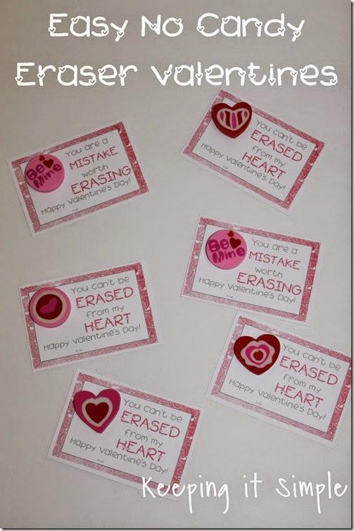No Candy Eraser Valentine