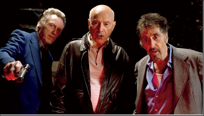 "l to r: Christoher Walken, Alan Arken and Al Pacino in ""Stand Up Guys."""