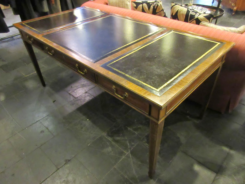 Council Leather Top Desk