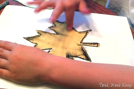 Smear the color onto the paper with your fingers