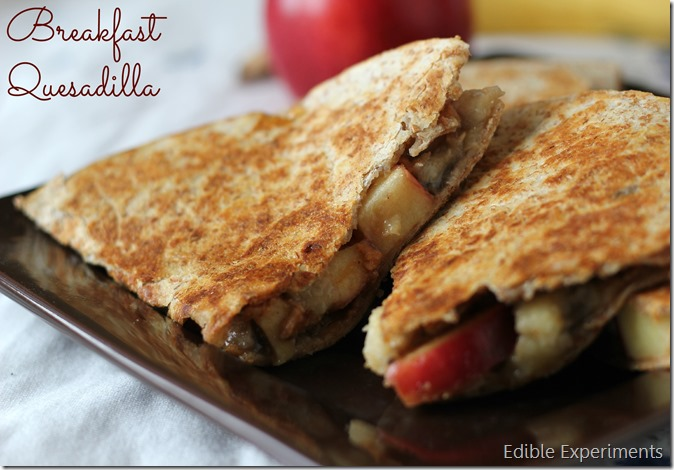 Breakfast Fruit Quesadilla