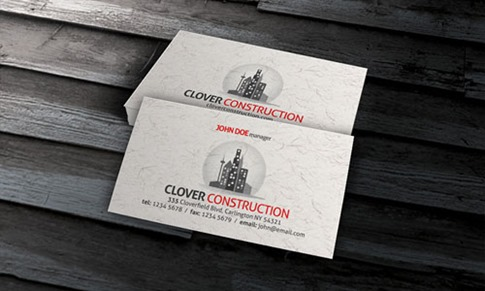 Paper Texture Business Card Template
