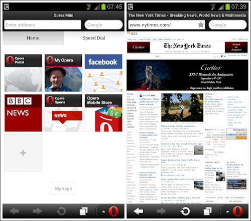 Opera Mini 7.5 per Android
