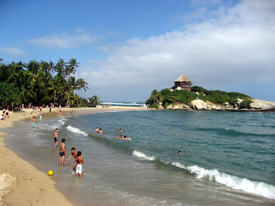 Cabo San Juan beach in Tayrona, stayed here for a night