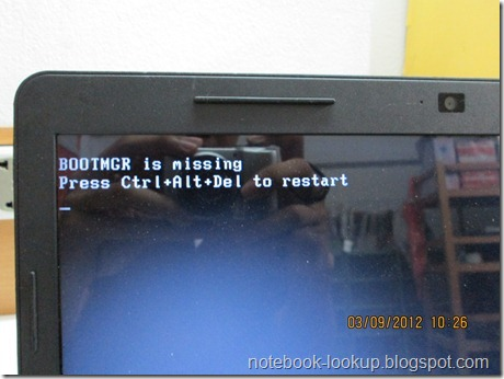 บันทึกช่าง Dell ลง Windows แล้วเจอ BOOT MGR is Missing