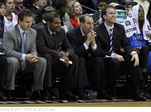 'Oklahoma City Thunder Coaching Staff' photo (c) 2011, Keith Allison - license: http://creativecommons.org/licenses/by-sa/2.0/