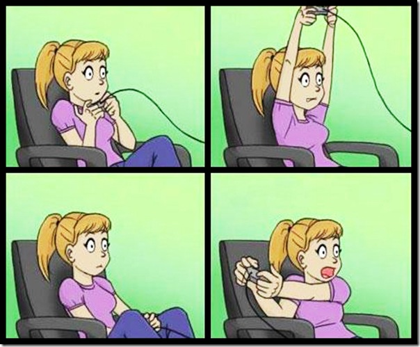 Meninas jogando videogame