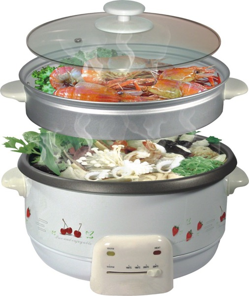 2-8L-Multi-Function-Cooker-With-Aluminum-Steamer
