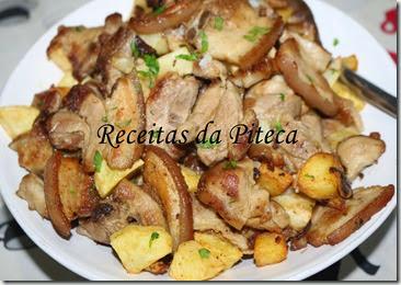 Entremeadas salteadas com batatas fritas-perto