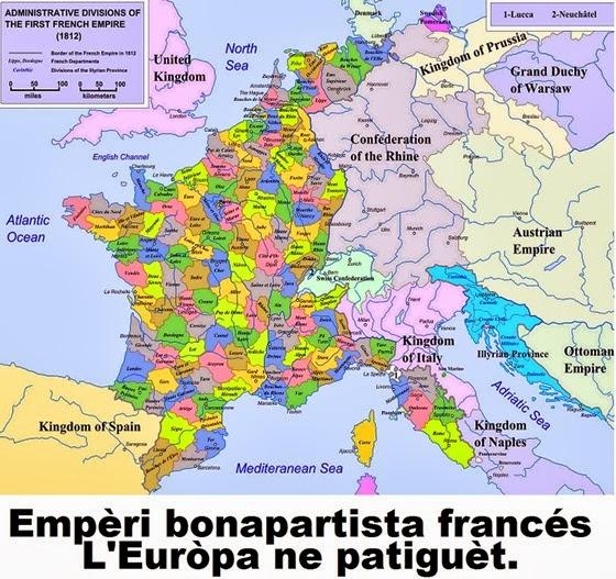 Mapa de l'empèri bonapartista