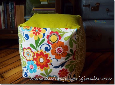 Dutch Girl Originals: Square Pouf