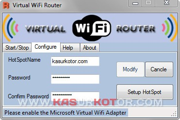 Membagi Koneksi Internet Windows 7 - Virtual Router WiFi
