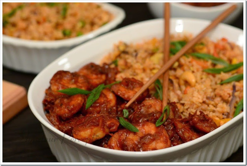 Fried Rice & Sichuan Shrimp 3