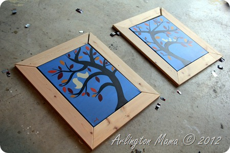 """bird painting"", ""birds in tree painting"", ""diy wood frames"", ""picture frames for canvas"""