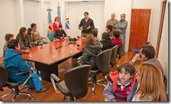 Entrega de pensiones en la Municipalidad de La Costa