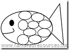 Free printable template for Rainbow Fish at Raki's Rad Resources.