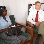 Ghanaian Times reporter  interviews Prof Casey.JPG