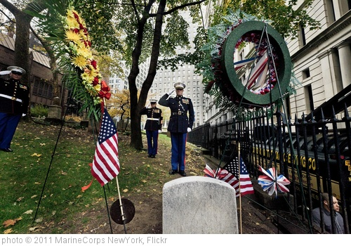 'Marines place wreath at grave site of 3rd Commandant on Marine Corps' birthday, Nov. 10' photo (c) 2011, MarineCorps NewYork - license: http://creativecommons.org/licenses/by/2.0/