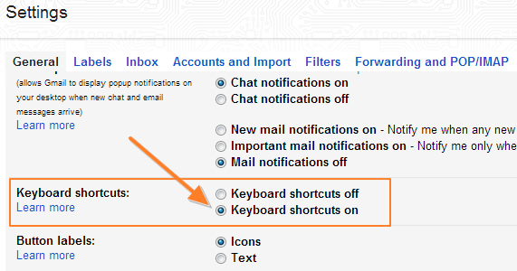 Enable-Gmail-Shotcuts