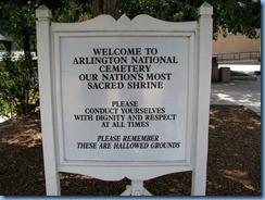 1430 Arlington, Virginia - Arlington National Cemetery sign
