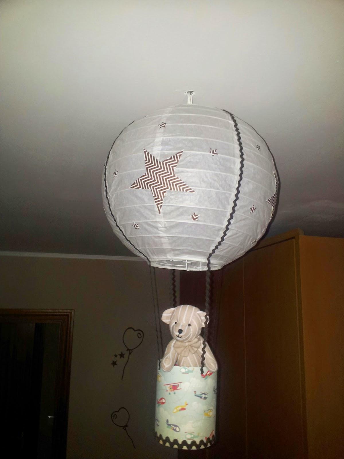 Las ideas de yoli diy l mpara globo infantil for Lampara globo ikea
