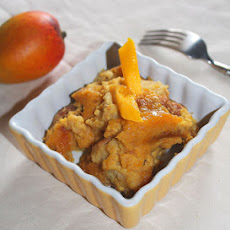 Coconut Mango Bread Pudding