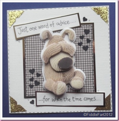 Boofle baby Shower card Docrafts