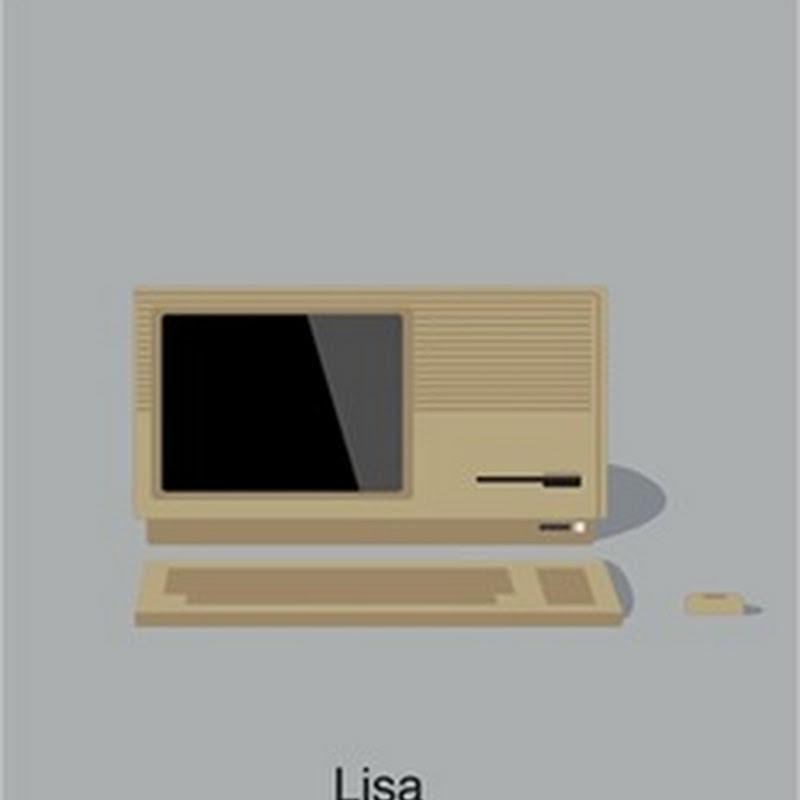 Ilustraciones sobre la evolución de las computadoras de Apple