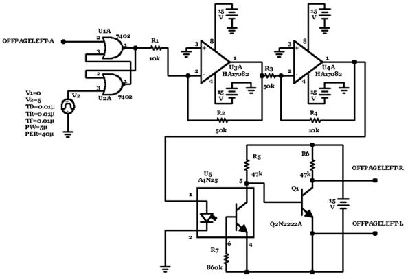 Control signal generating circuit diagram