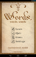 Screenshot of Words, words, words!