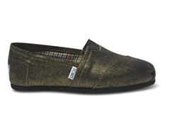 TOMS Gold Metallic Woven Classic