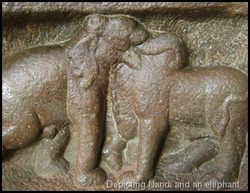Depicting Nandi and an elephant