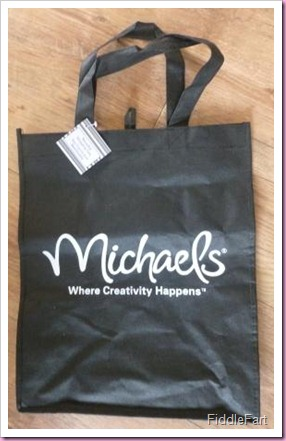 Michaels Where Creativity happens bag