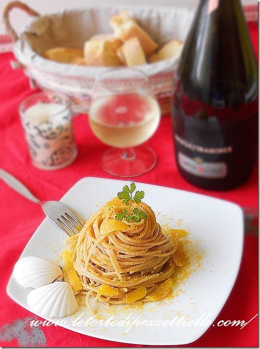 Spaghetti integrali alla bottarga