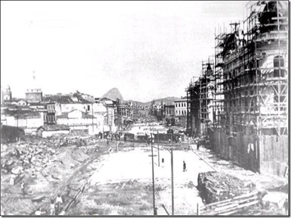 Av. Central - Início Construção Década de 1900