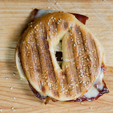 Bacon Cheddar Bagel Panini