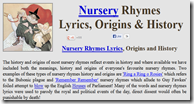 Using nursery rhymes with older students - take a look at the background behind the rhymes.