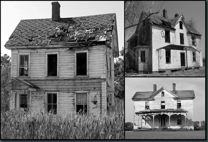 Old Houses collage